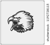 emblems with eagle head.... | Shutterstock .eps vector #1192728115