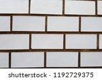 white brick wall texture.   Shutterstock . vector #1192729375