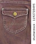 brown jeans pocket.    Shutterstock . vector #1192735495