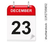 daily single leaf calendar  red ... | Shutterstock .eps vector #1192735852