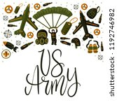 us army. military and army flat ... | Shutterstock .eps vector #1192746982