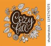 cozy fall vector illustration....   Shutterstock .eps vector #1192747075