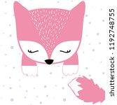 polak profit deer baby girl...   Shutterstock .eps vector #1192748755