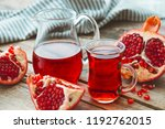 pomegranate juice and ripe... | Shutterstock . vector #1192762015