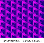 abstract 3d seamless geometric... | Shutterstock .eps vector #1192765108