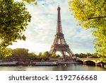 paris eiffel tower  france | Shutterstock . vector #1192766668