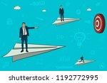 businessmen are flying in the...   Shutterstock .eps vector #1192772995
