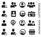 user icons. black flat design.... | Shutterstock .eps vector #1192783102