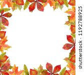 watercolor frame of autumn... | Shutterstock . vector #1192788925