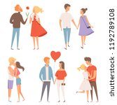 dating couples. st valentine... | Shutterstock .eps vector #1192789108