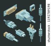 plug connectors. vga hand... | Shutterstock .eps vector #1192789198