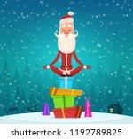 santa relax meditation. winter... | Shutterstock .eps vector #1192789825