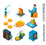 crypto currency business.... | Shutterstock .eps vector #1192789828