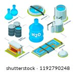 water cleaning 3d. aqua... | Shutterstock .eps vector #1192790248
