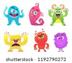 cartoon monsters. goblin... | Shutterstock .eps vector #1192790272