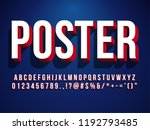 modern 3d poster font headline... | Shutterstock .eps vector #1192793485