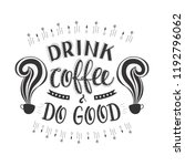 banner of coffee with... | Shutterstock .eps vector #1192796062