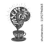 banner of coffee with... | Shutterstock .eps vector #1192796065