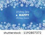 blue christmas winter greeting... | Shutterstock . vector #1192807372