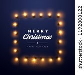 christmas background with... | Shutterstock .eps vector #1192808122
