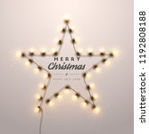 christmas background with... | Shutterstock .eps vector #1192808188