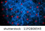 block chain concept. network...   Shutterstock . vector #1192808545