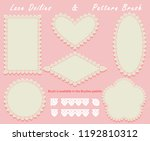 lace doilies of different... | Shutterstock .eps vector #1192810312