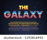 super hero movie sci fi poster  ... | Shutterstock .eps vector #1192816942