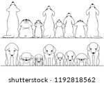 cute dogs looking up and down...   Shutterstock .eps vector #1192818562