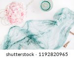 turquoise blanket  colorful... | Shutterstock . vector #1192820965