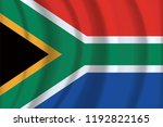 south africa flag fabric... | Shutterstock .eps vector #1192822165