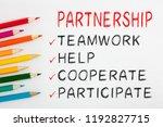 partnership concept on white... | Shutterstock . vector #1192827715