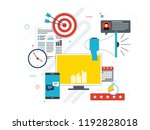 advertising and marketing... | Shutterstock .eps vector #1192828018