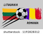flags of lithuania and romania  ... | Shutterstock .eps vector #1192828312