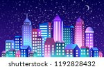 city landscape christmas with... | Shutterstock .eps vector #1192828432
