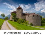 vaduz castle  the palace and... | Shutterstock . vector #1192828972
