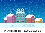 city landscape christmas with... | Shutterstock .eps vector #1192831618