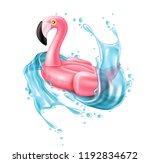 vector realistic 3d pink... | Shutterstock .eps vector #1192834672
