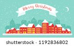 city landscape christmas with... | Shutterstock .eps vector #1192836802