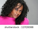 portrait of african american beauty - stock photo