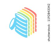 coin stack icon. stack of... | Shutterstock .eps vector #1192843342