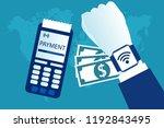 smart watch contactless... | Shutterstock .eps vector #1192843495