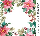 Watercolor Christmas Floral...