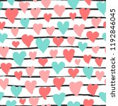 colorful hearts  stripes... | Shutterstock .eps vector #1192846045