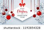 christmas festive banner.... | Shutterstock .eps vector #1192854328