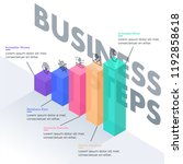 isometric business level stages ...   Shutterstock .eps vector #1192858618