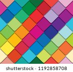colorful mosaic seamless... | Shutterstock .eps vector #1192858708