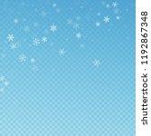 sparse snowfall christmas... | Shutterstock .eps vector #1192867348