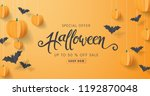 happy halloween calligraphy... | Shutterstock .eps vector #1192870048