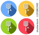 fly swatter and insect. simple... | Shutterstock .eps vector #1192881985